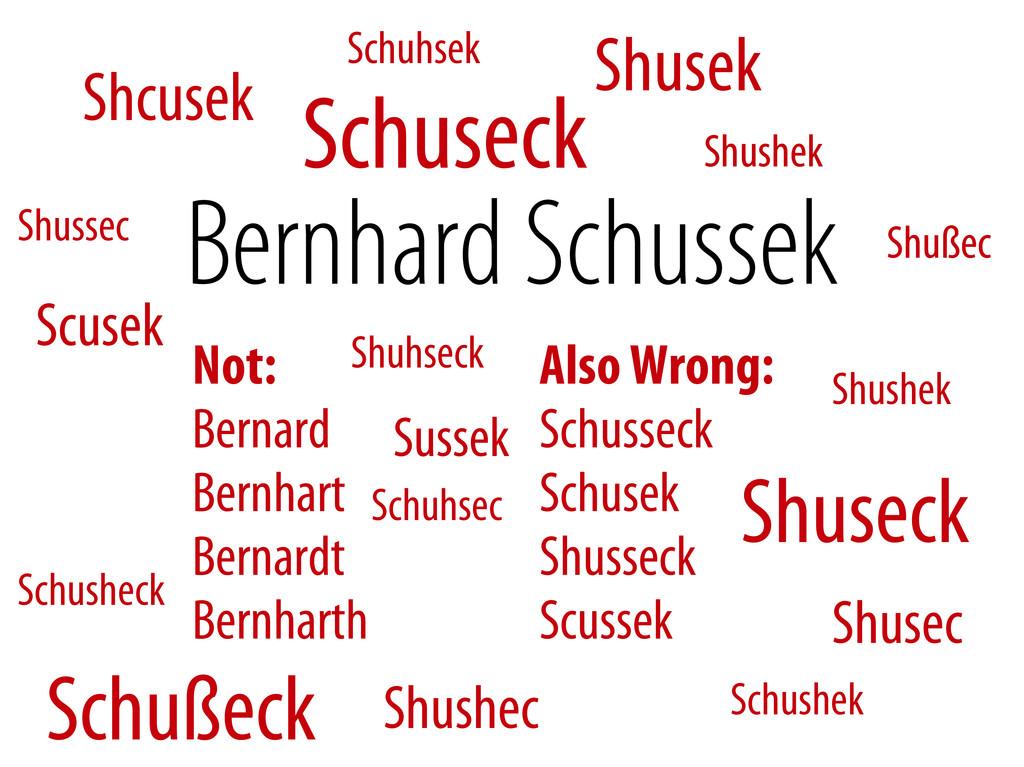 Bernhard Schussek @webmozart 2/89 Bernhard Schu...