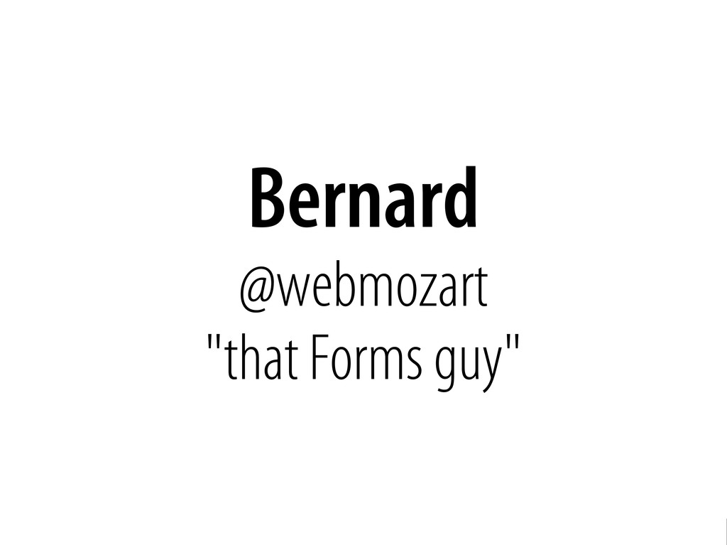 Bernhard Schussek @webmozart 3/89 Bernard @webm...