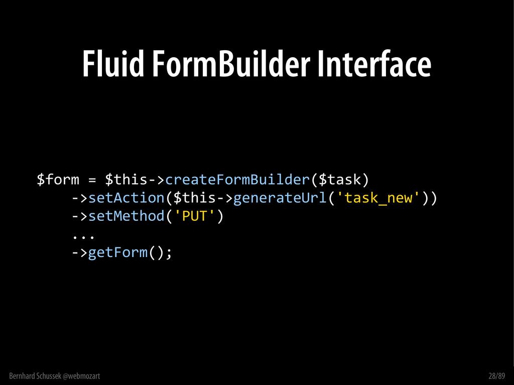 Bernhard Schussek @webmozart 28/89 Fluid FormBu...