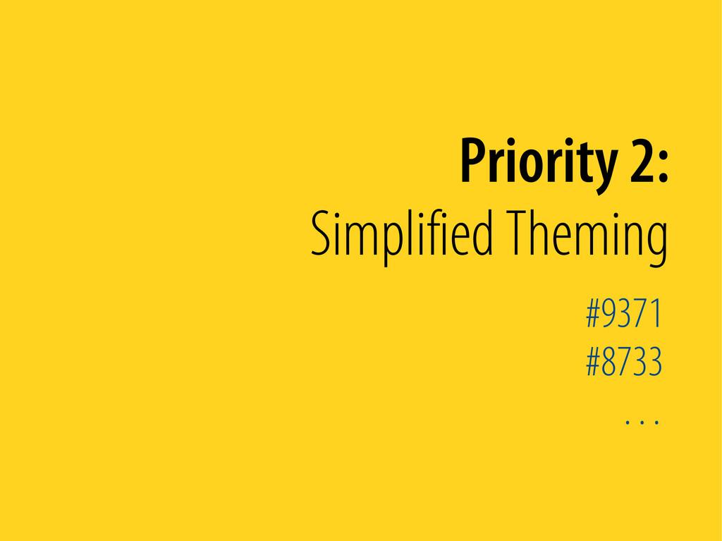 Bernhard Schussek @webmozart 73/89 Priority 2: ...