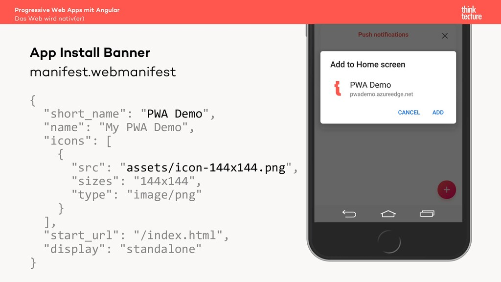 "manifest.webmanifest { ""short_name"": ""PWA Demo""..."