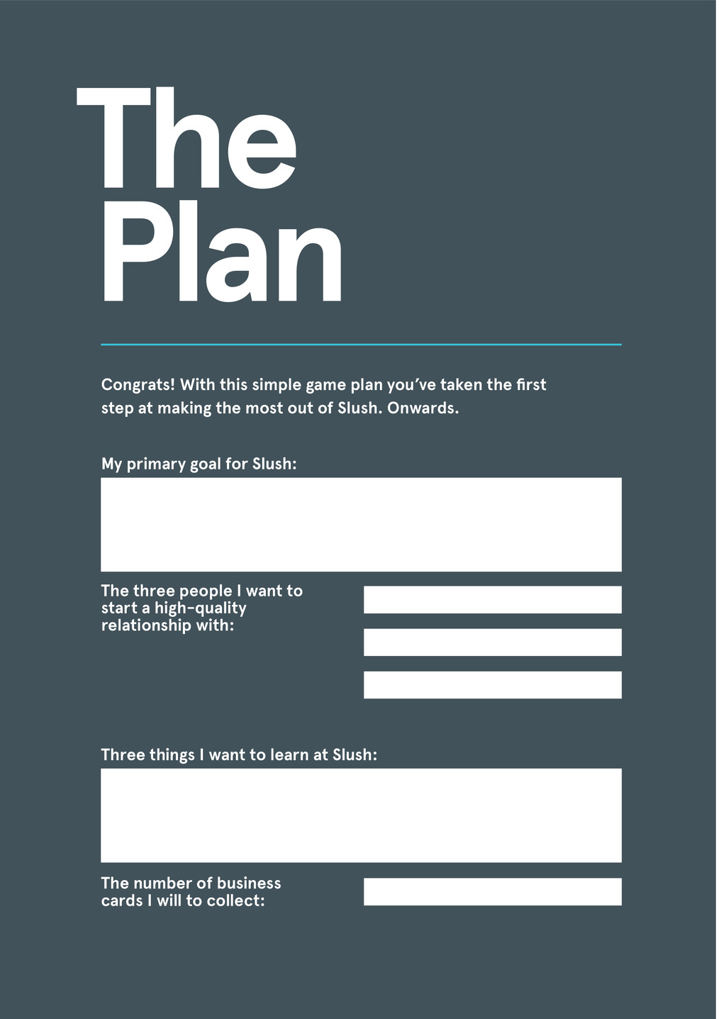 Congrats! With this simple game plan you've tak...