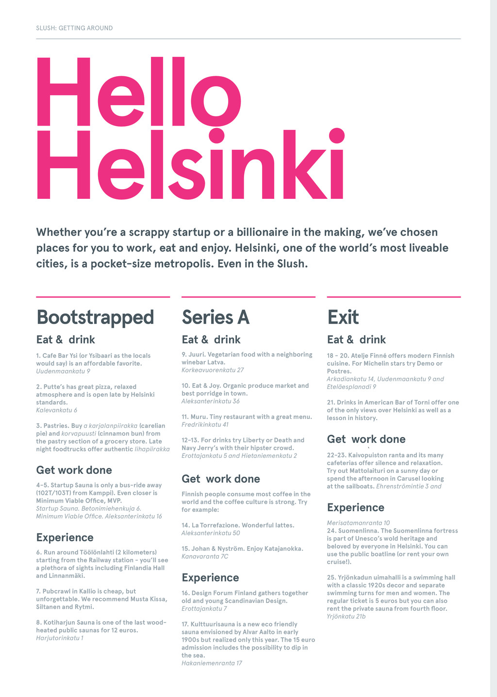 Hello Helsinki Eat & drink 1. Cafe Bar Ysi (or ...