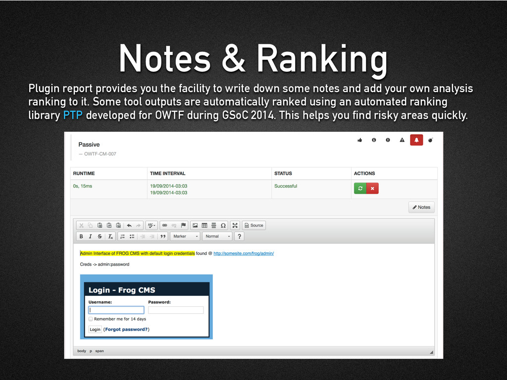 Notes & Ranking Plugin report provides you the ...