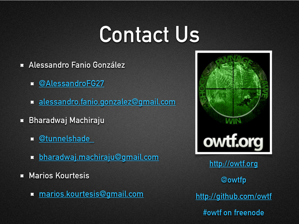 Contact Us Alessandro Fanio González @Alessandr...