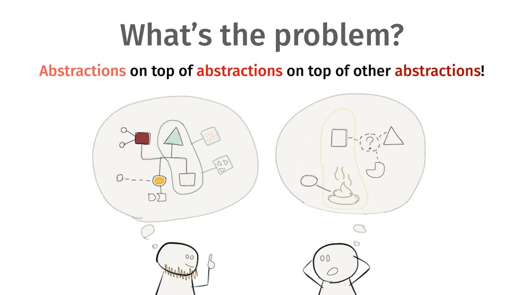 What's the problem? Abstractions on top of abst...