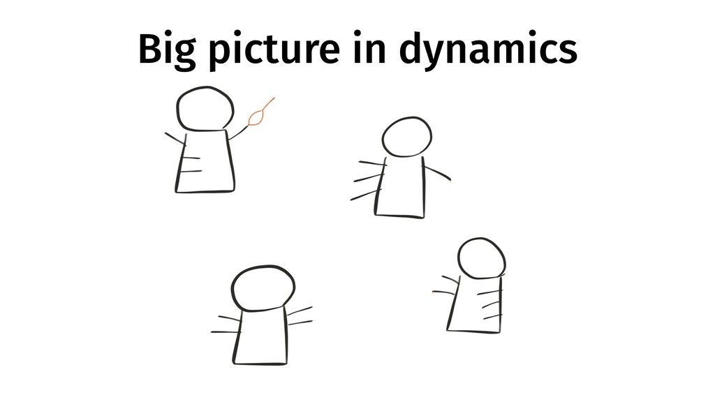 Big picture in dynamics