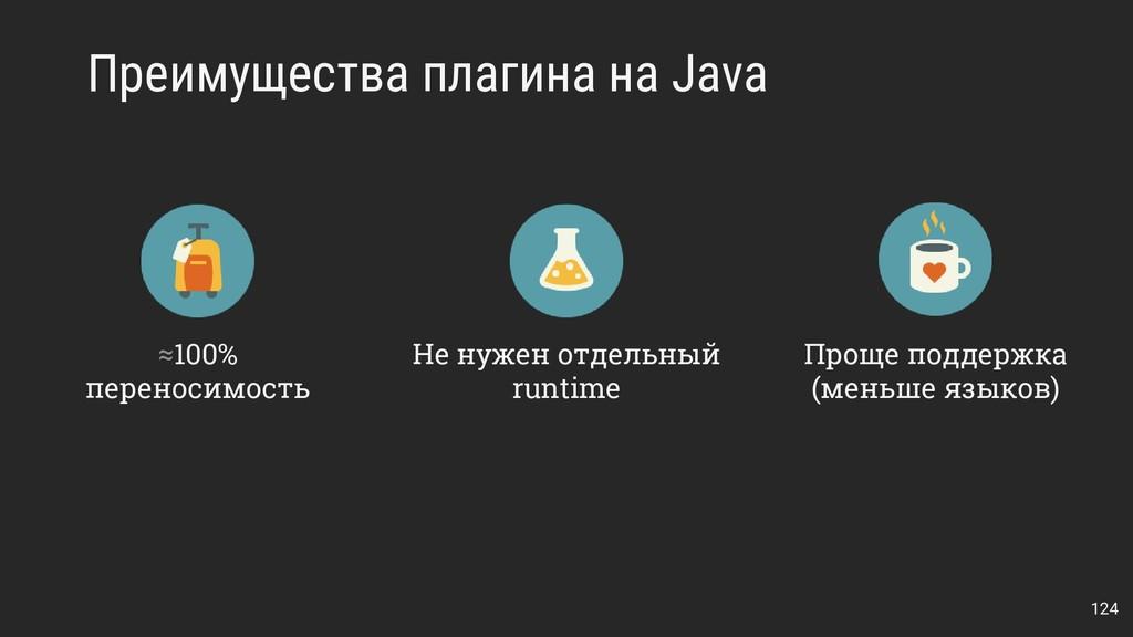 Преимущества плагина на Java 124 ≈100% переноси...