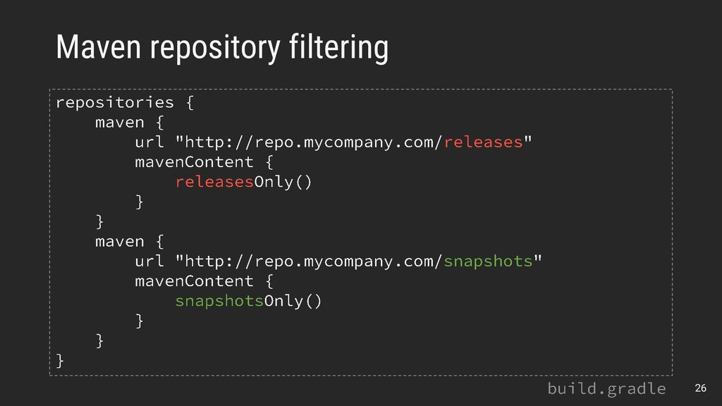 Maven repository filtering 26