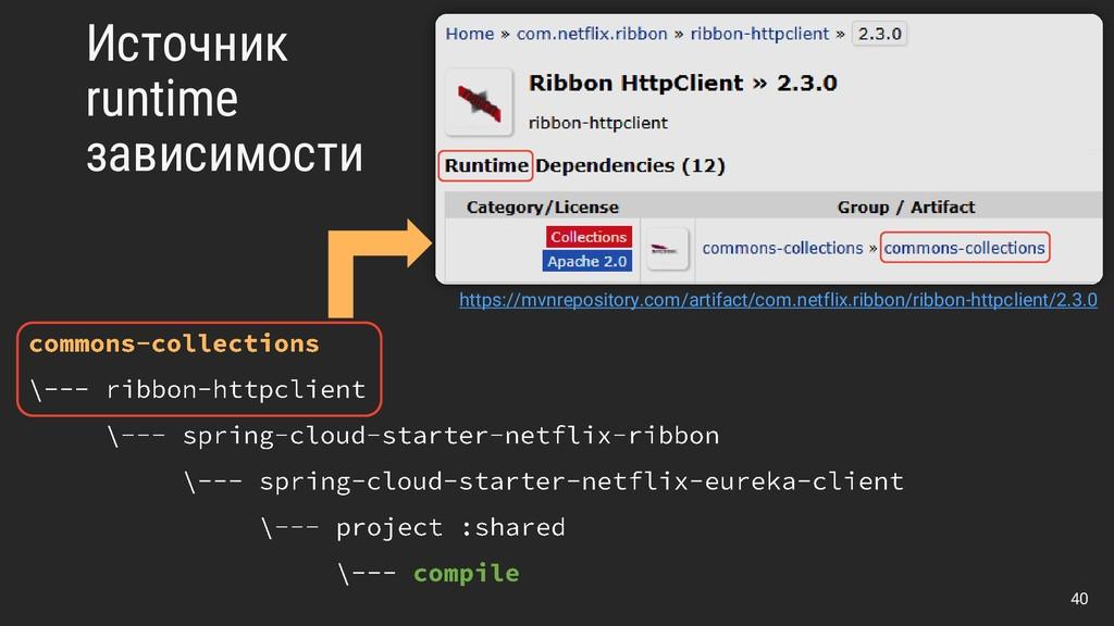 Источник runtime зависимости https://mvnreposit...
