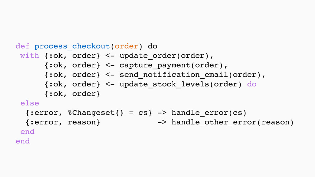 def process_checkout(order) do with {:ok, order...