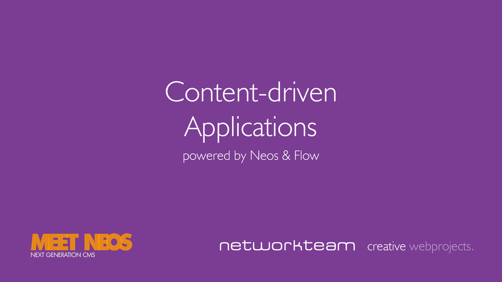 Content-driven Applications creative webproject...