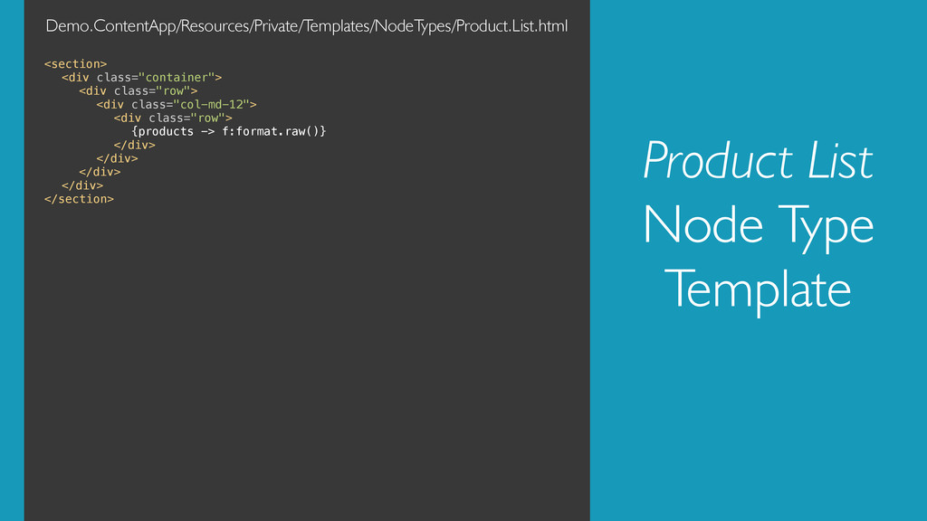 Product List Node Type Template <section>