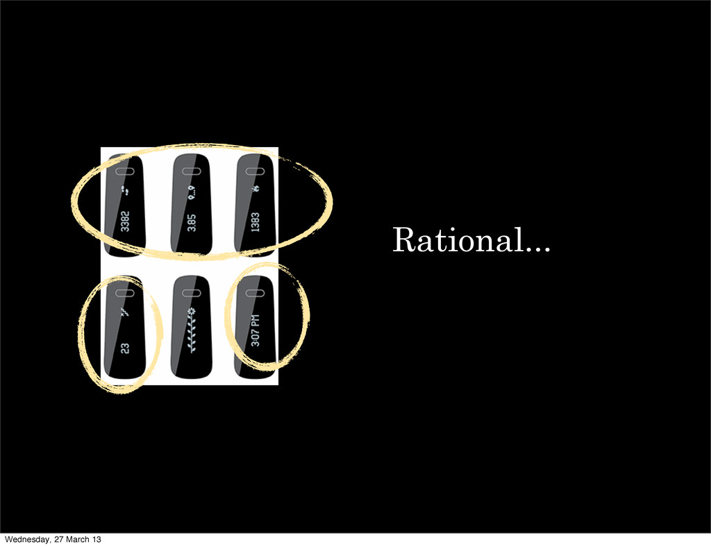 Rational... Wednesday, 27 March 13