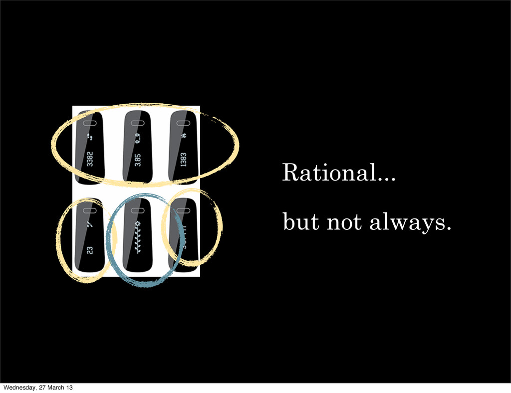 Rational... but not always. Wednesday, 27 March...