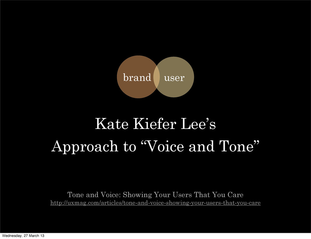 "Kate Kiefer Lee's Approach to ""Voice and Tone"" ..."