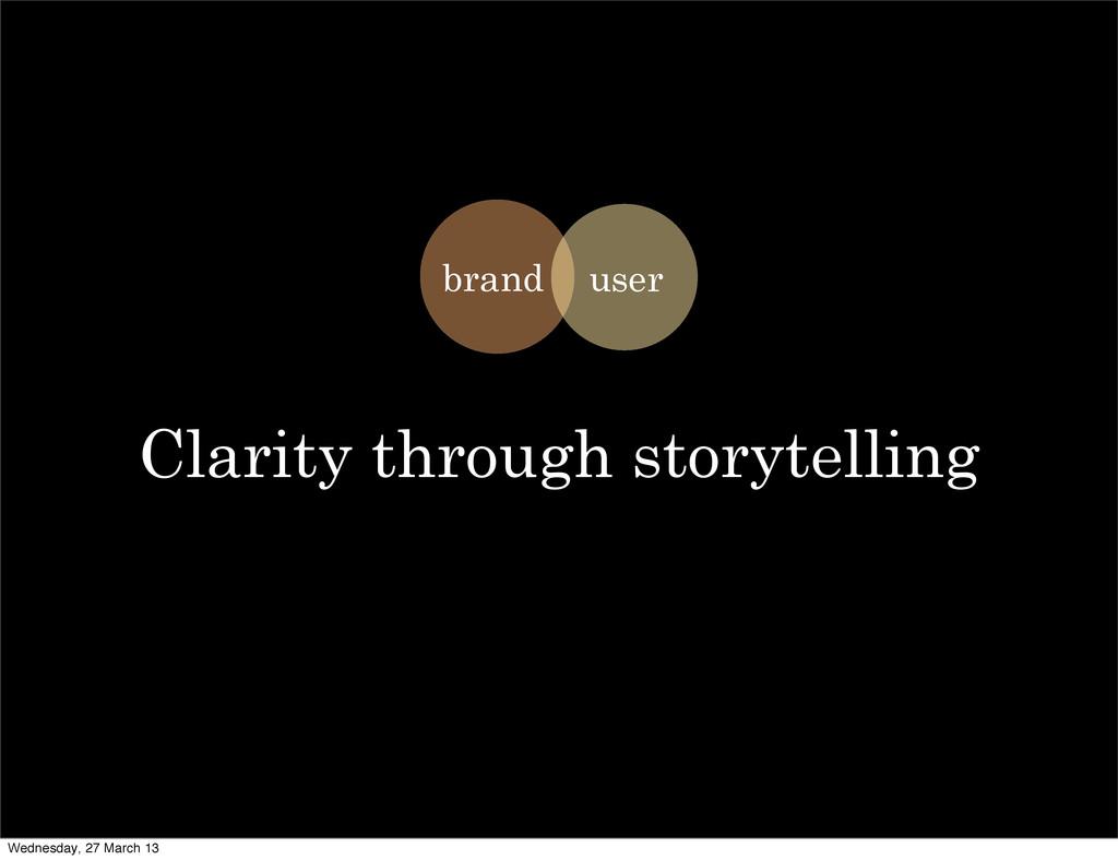 Clarity through storytelling brand user Wednesd...