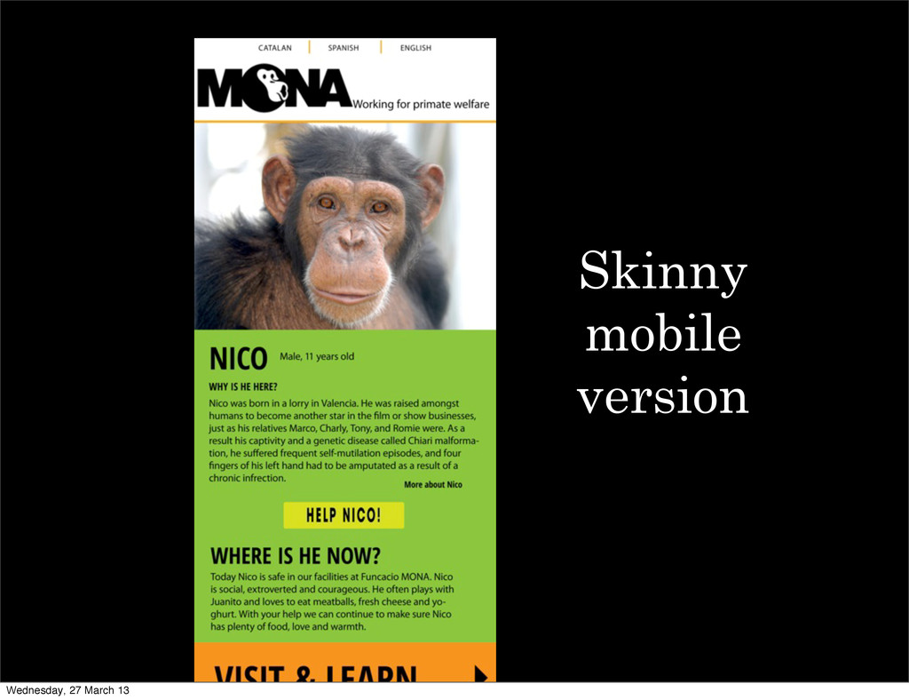 Skinny mobile version Wednesday, 27 March 13