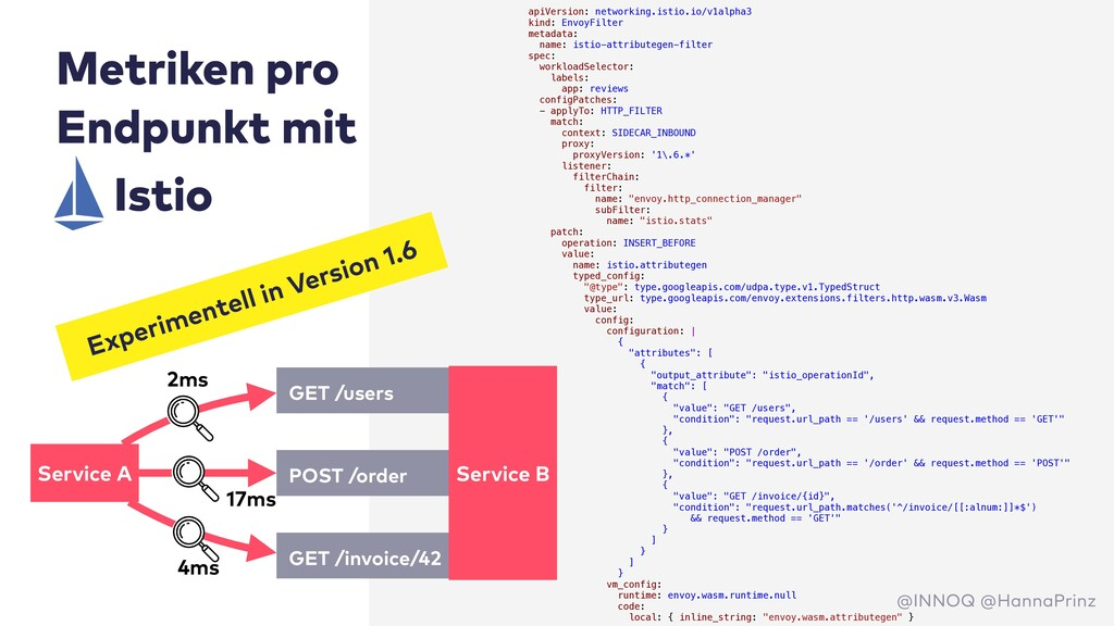 Metriken pro Endpunkt mit apiVersion: networkin...
