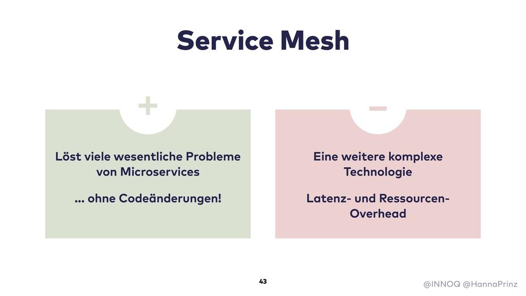 Service Mesh Löst viele wesentliche Probleme vo...