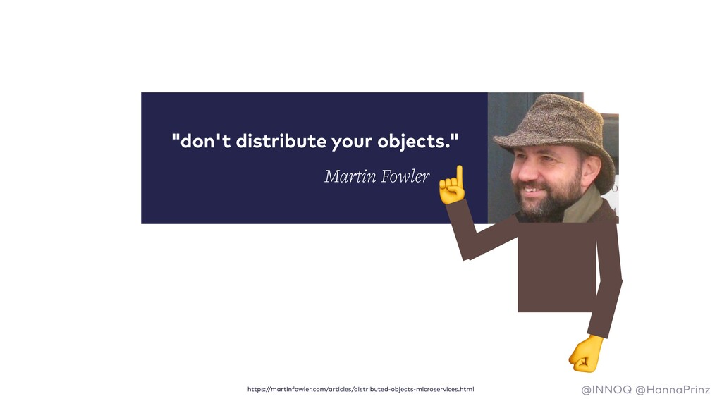 """""""don't distribute your objects."""" ☝  https://mar..."""