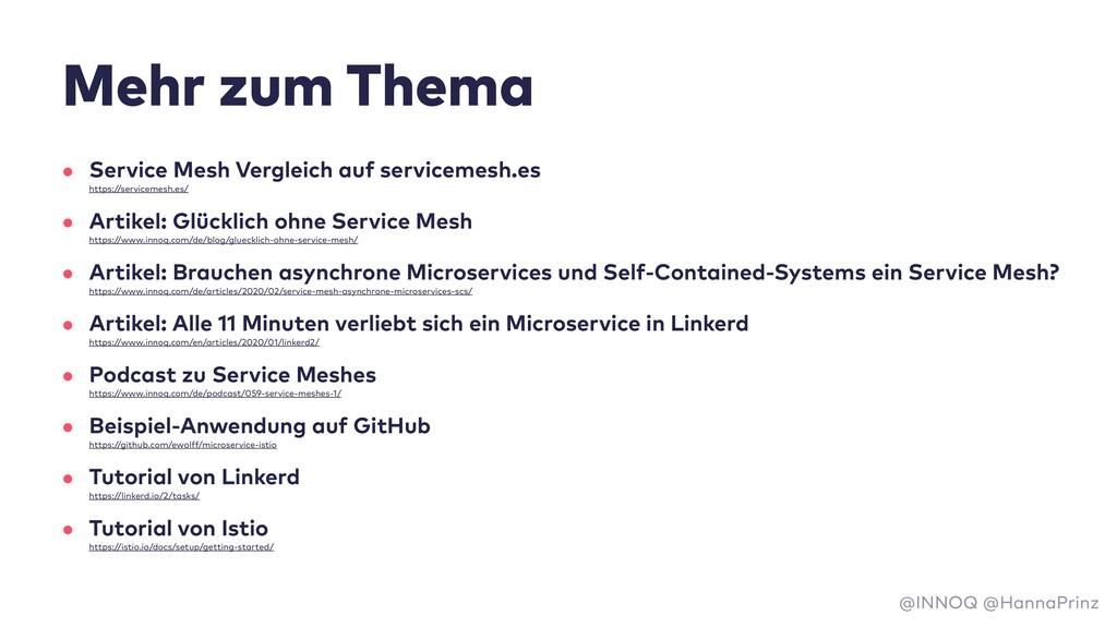 Mehr zum Thema • Service Mesh Vergleich auf ser...