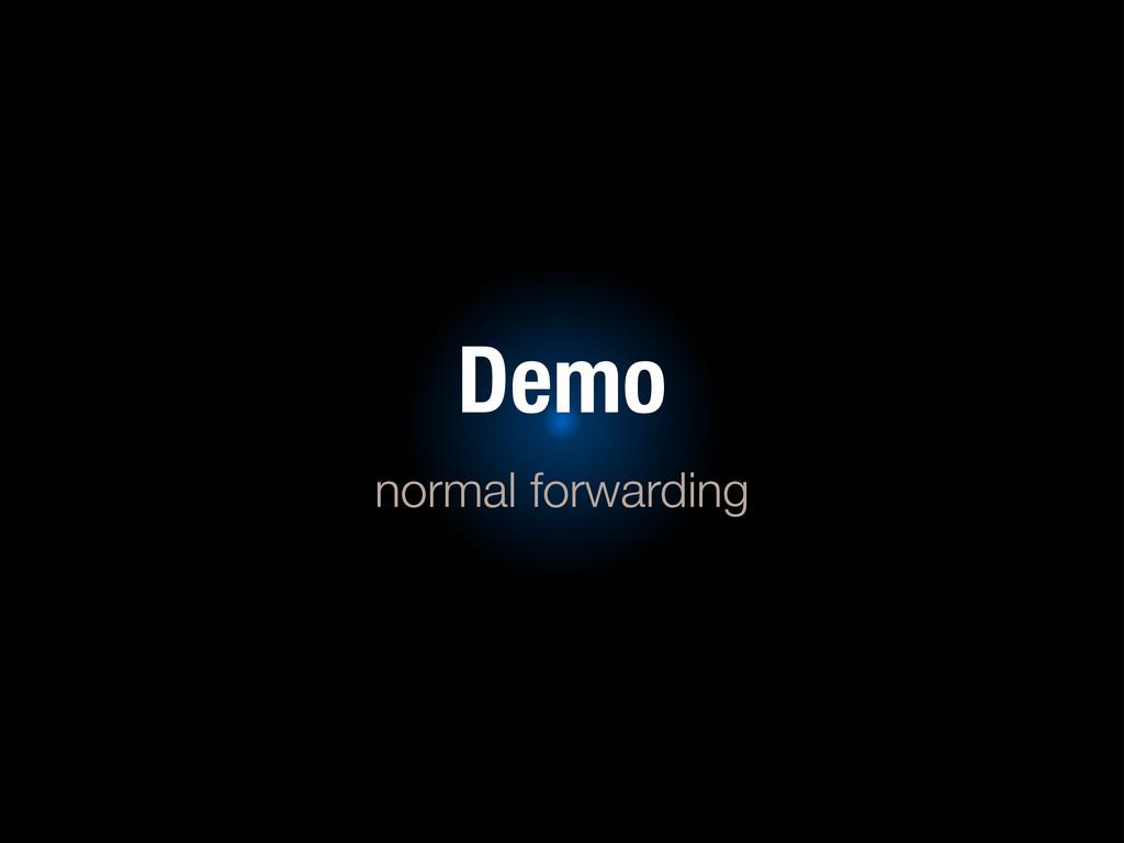 Demo normal forwarding