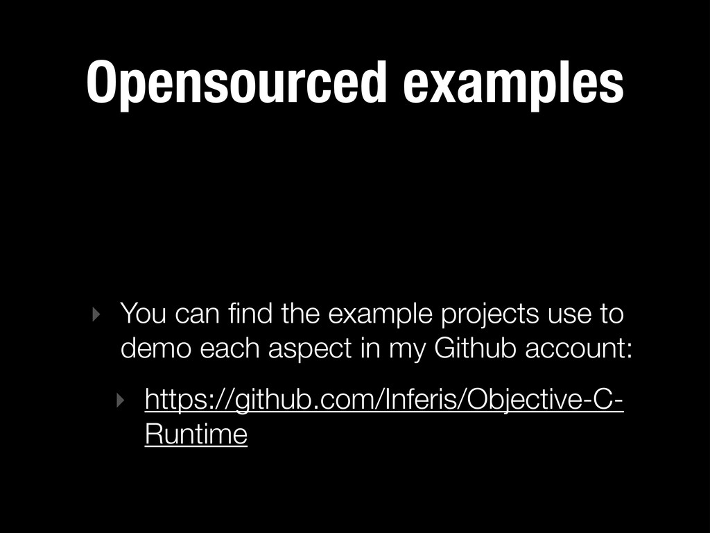 Opensourced examples ‣ You can find the example ...