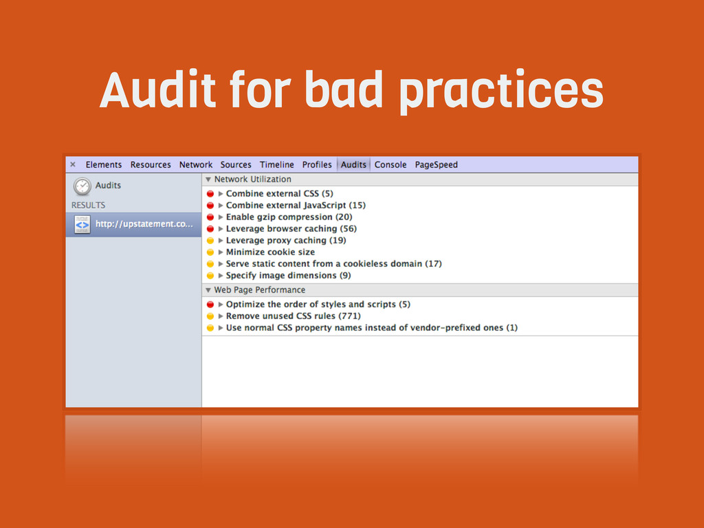 Audit for bad practices
