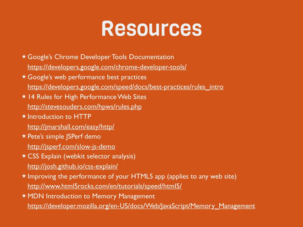Resources ★ Google's Chrome Developer Tools Doc...