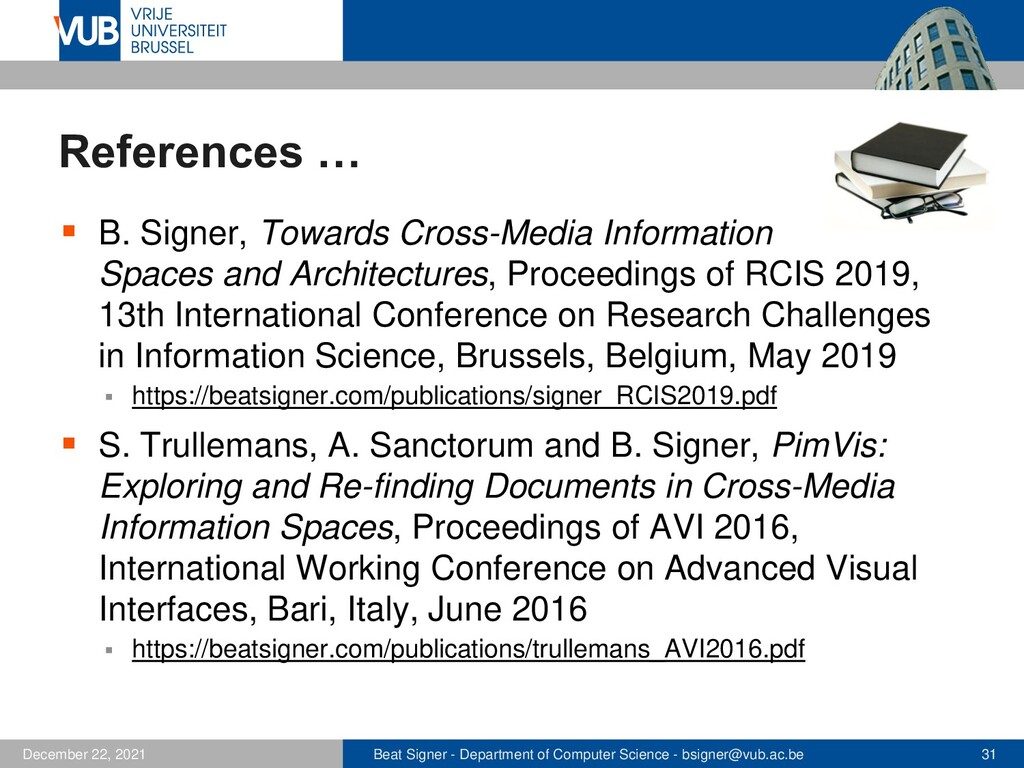 2 December 2005 The End Good Luck with the Exam!