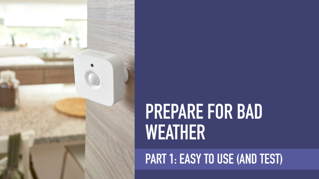PREPARE FOR BAD WEATHER PART 1: EASY TO USE (AN...
