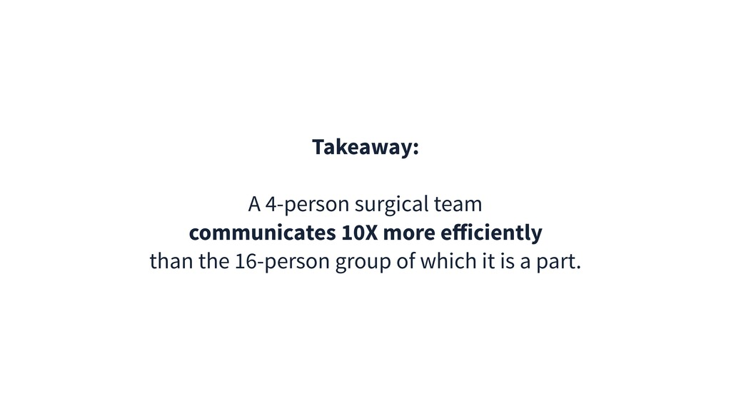 Takeaway: A 4-person surgical team communicates...