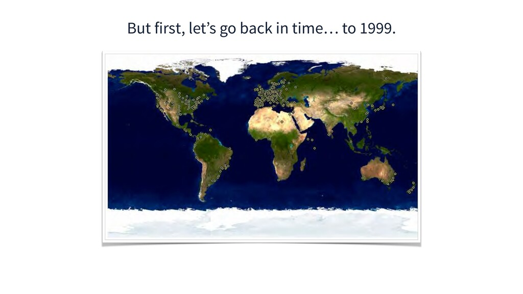 But first, let's go back in time… to 1999.