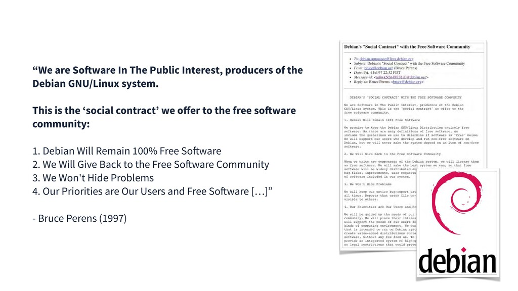 """We are Software In The Public Interest, produc..."