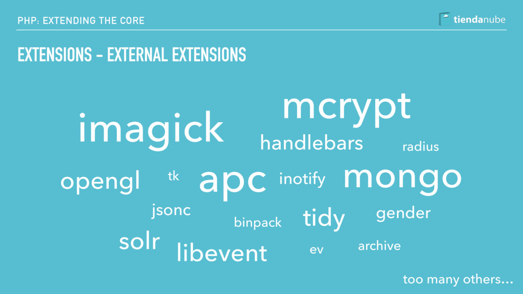 PHP: EXTENDING THE CORE EXTENSIONS - EXTERNAL E...