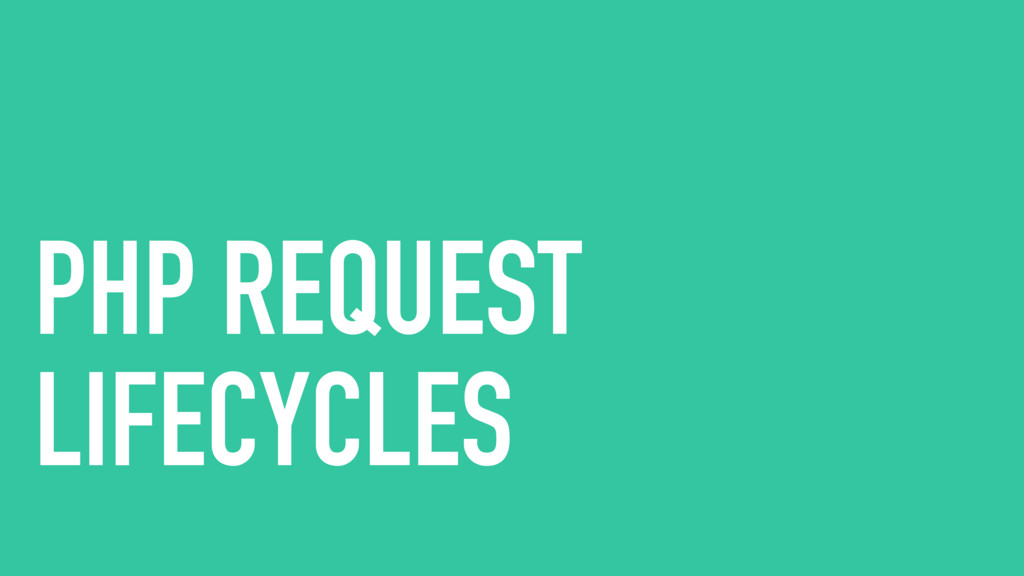 PHP REQUEST LIFECYCLES