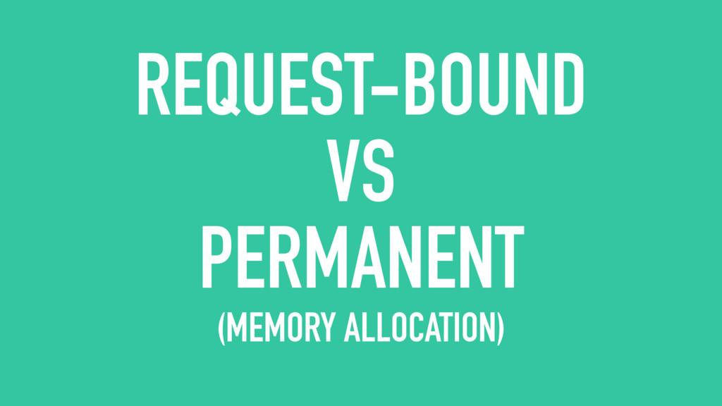 REQUEST-BOUND VS PERMANENT (MEMORY ALLOCATION)