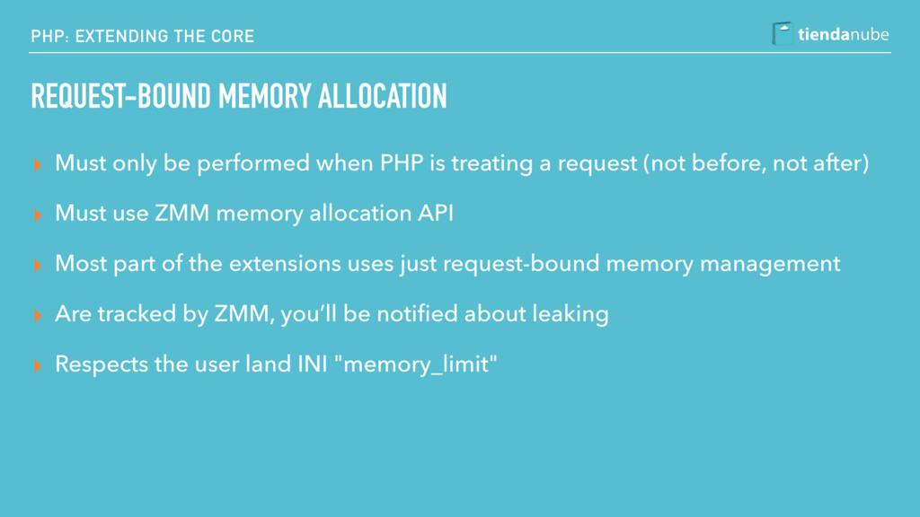 PHP: EXTENDING THE CORE REQUEST-BOUND MEMORY AL...