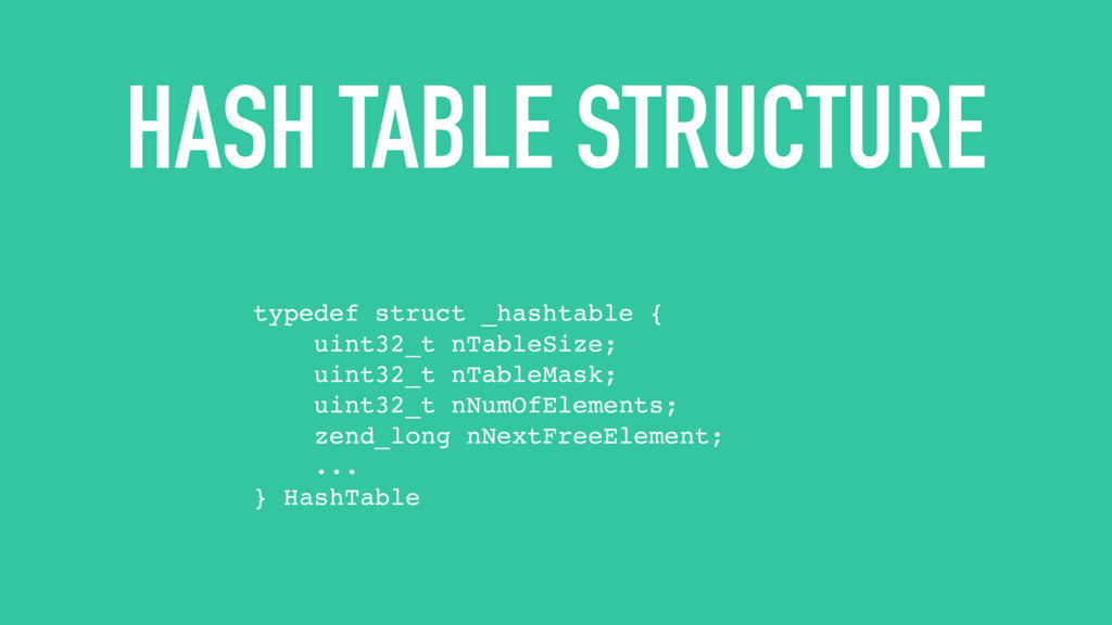 HASH TABLE STRUCTURE typedef struct _hashtable ...
