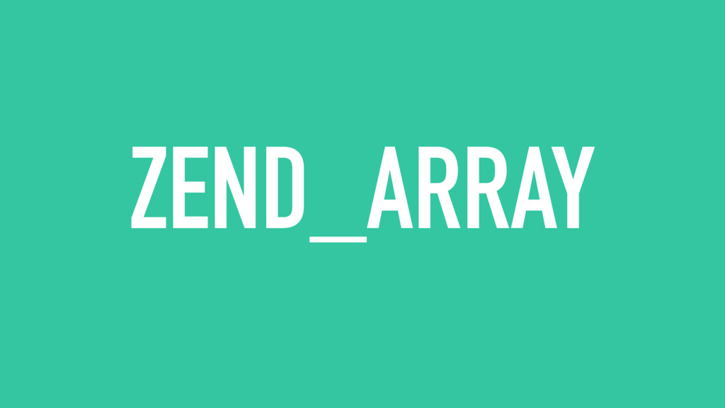 ZEND_ARRAY