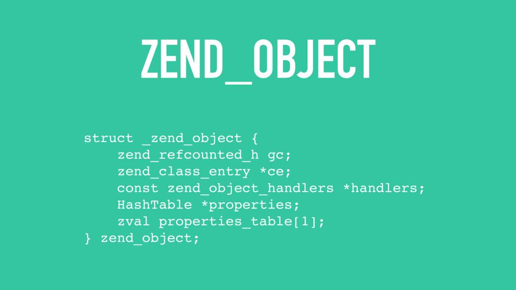 ZEND_OBJECT struct _zend_object { zend_refcount...