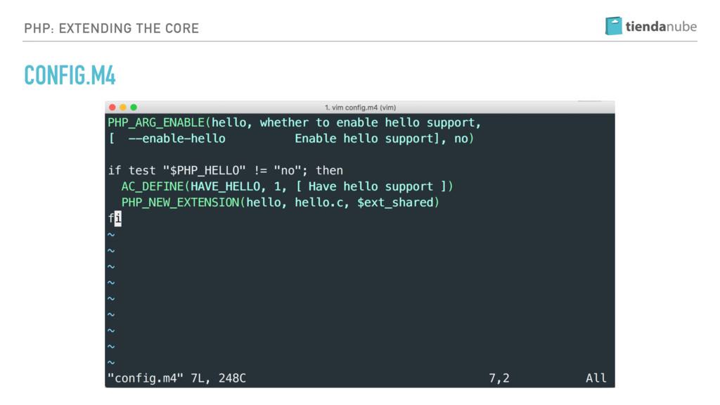 PHP: EXTENDING THE CORE CONFIG.M4