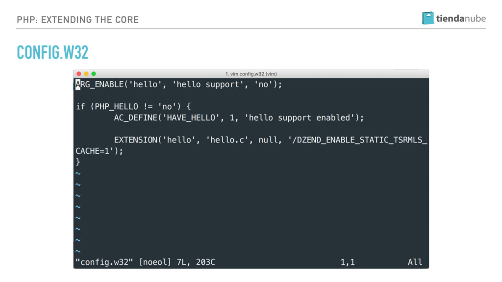 PHP: EXTENDING THE CORE CONFIG.W32