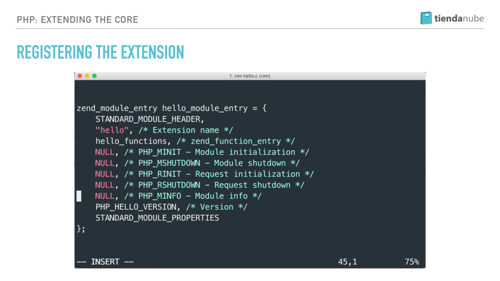 PHP: EXTENDING THE CORE REGISTERING THE EXTENSI...