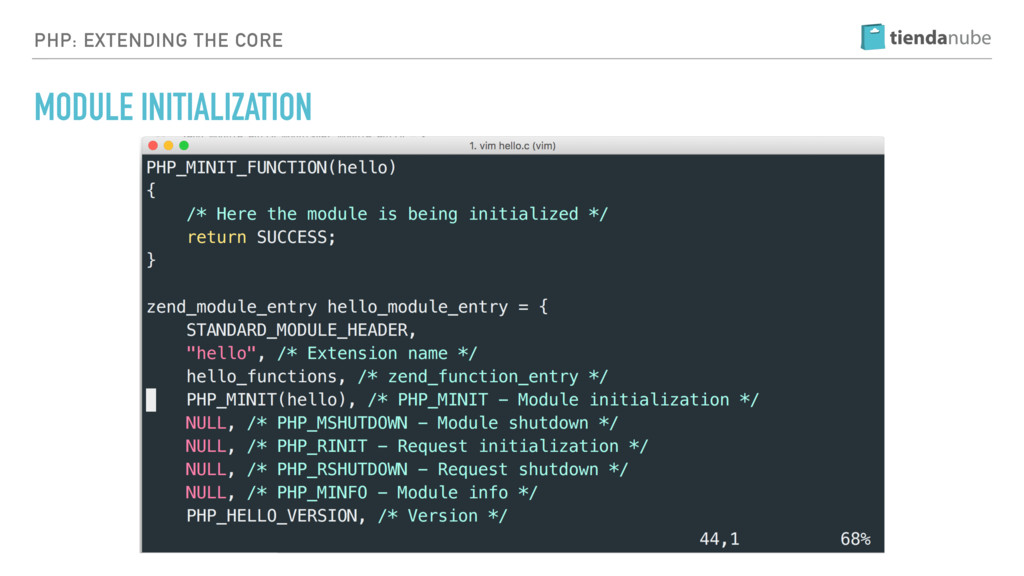 PHP: EXTENDING THE CORE MODULE INITIALIZATION
