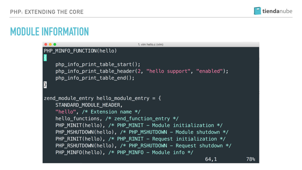 PHP: EXTENDING THE CORE MODULE INFORMATION