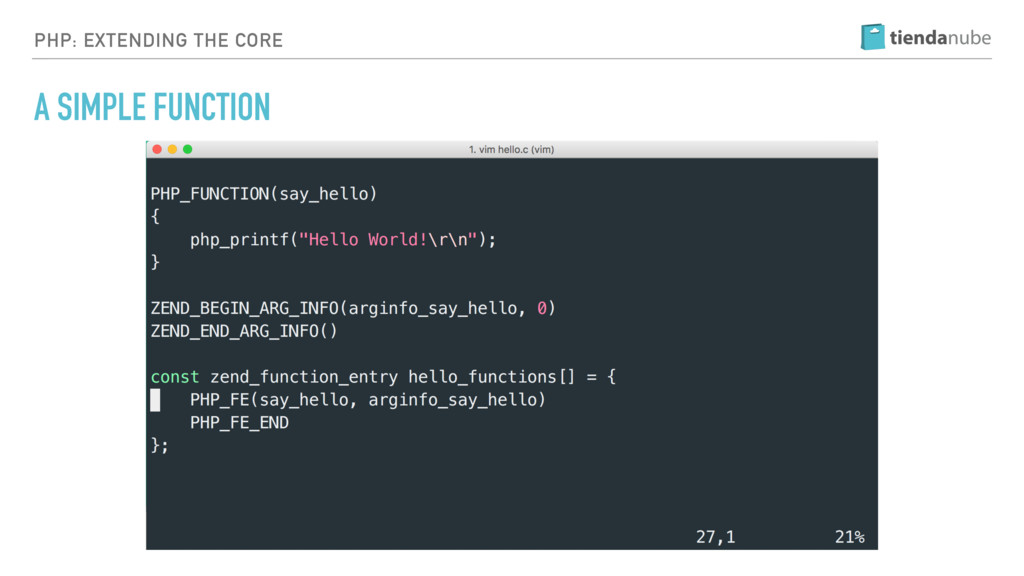PHP: EXTENDING THE CORE A SIMPLE FUNCTION