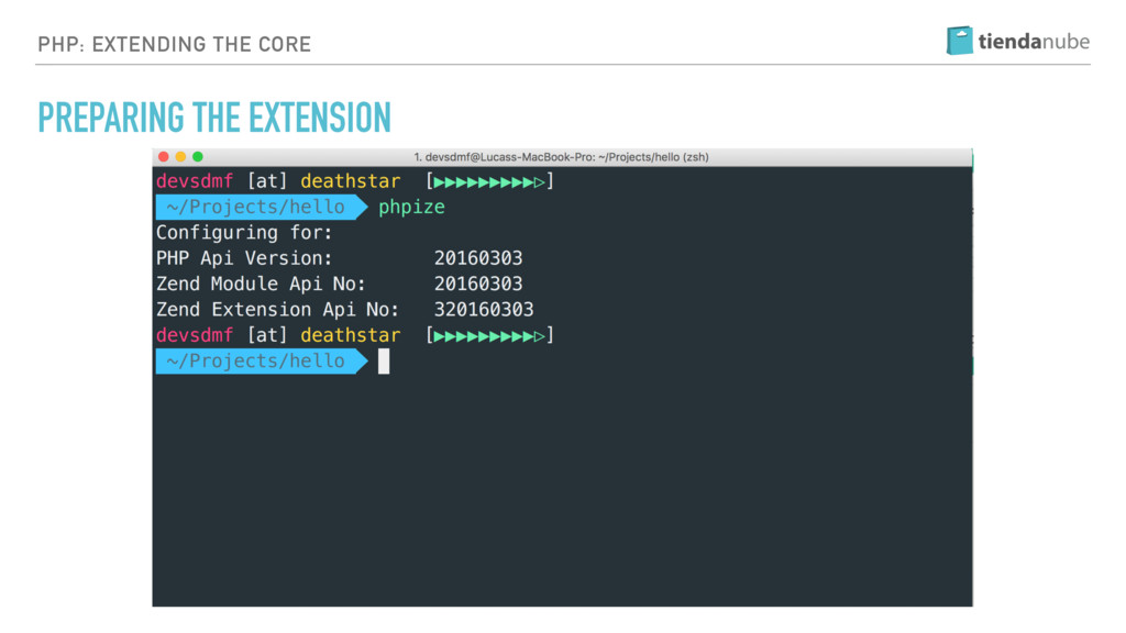 PHP: EXTENDING THE CORE PREPARING THE EXTENSION