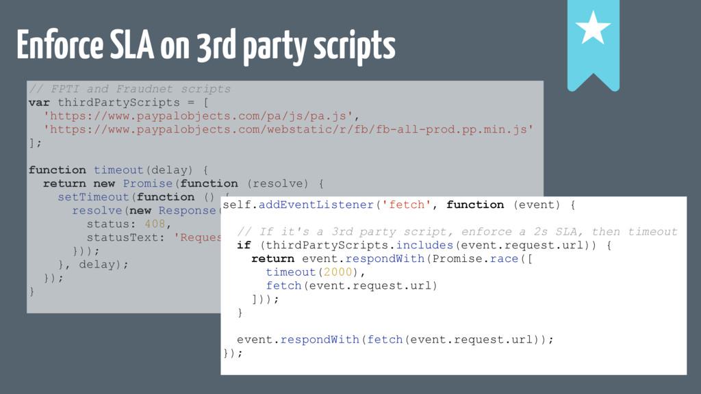 Enforce SLA on 3rd party scripts ! ! ! // FPTI ...